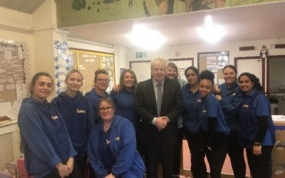 Boris Johnson Visits Sunflower House Nursery